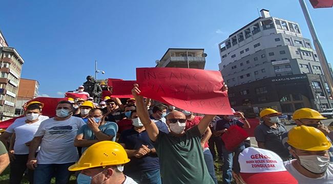Madenciler Eylemde