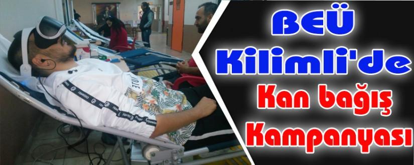 BEÜ Kilimli'de kan bağış kampanyası
